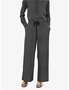 Womens Palma Stretch Silk Pants Black