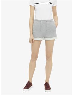 Womens Daly Stitched Sweat Shorts Lt Grey Mel