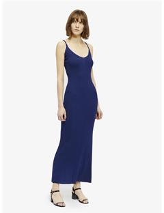 Womens Millicent Drapy Ribbed Dress Blueprint