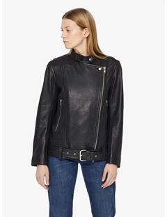Womens Maya Summer Leather Jacket Black
