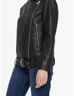 Maya Summer Leather Jacket Black