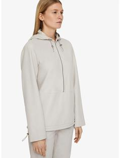 Shia Sporty Leather Anorak Pale Grey