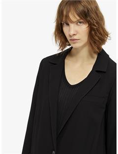 Laya Spring Twill Coat Black