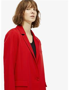 Womens Laya Spring Twill Coat Racing Red