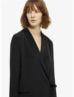 Womens Adler Drapy Weave Wrap Blouse Black
