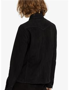 Womens Irene Light Suede Shirt Black