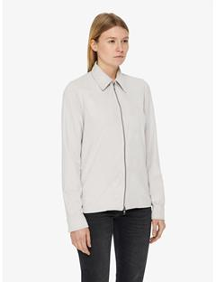 Womens Irene Light Suede Shirt Pale Grey
