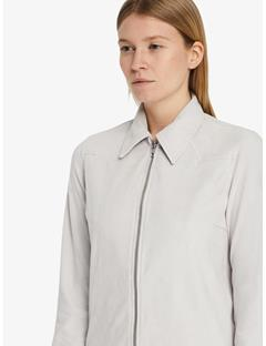 Irene Light Suede Shirt Pale Grey