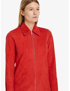 Womens Irene Light Suede Shirt Racing Red