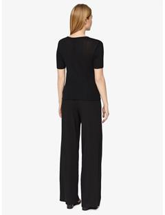 Womens Lyn Silky Ribbed T-shirt Black