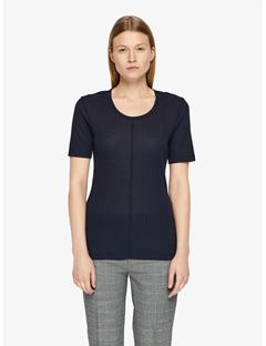 Womens Lyn Silky Ribbed T-shirt JL Navy