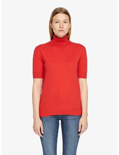 Dwight Spring Cashmere Turtleneck Sweater Racing Red