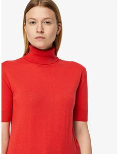 Womens Dwight Spring Cashmere Turtleneck Sweater Racing Red