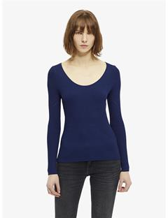 Womens Naeba Drapy Ribbed Top Blueprint