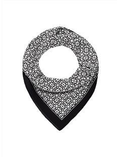 Womens Printed Square Scarf Black