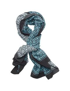 Printed Square Scarf Washed Blue