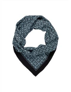 Womens Printed Square Scarf Washed Blue