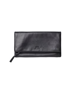 Soft Nappa Leather Envelope Clutch Black