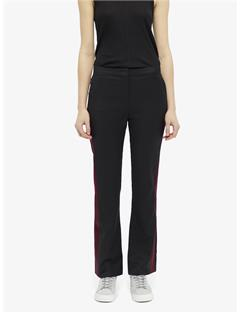 Womens Beverly Tailored Wool Tuxedo Pants Black
