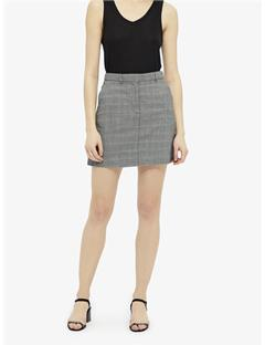 Womens Elverta P.O.W Wool Skirt Black