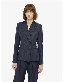 Womens Cypress Spring Pinstripe Blazer JL Navy
