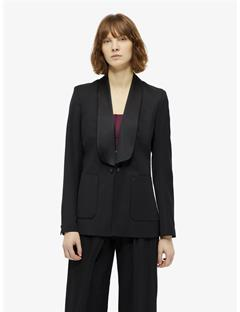 Carson Tailored Wool Tuxedo Jacket Black