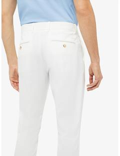 Mens Vent Tight Fit Pants White
