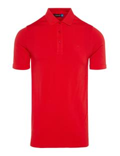 Mens Ash Seamless Polo Racing Red