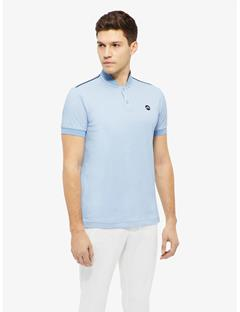 Bevin Cotton Poly Polo Gentle blue melange