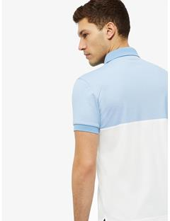 Kye Cotton Poly Polo Gentle blue melange