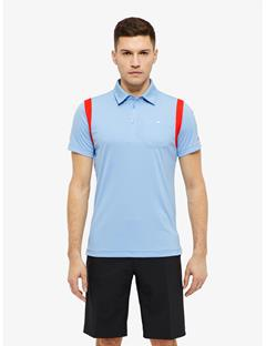 Dolph TX Jersey Slim Fit Polo Gentle blue
