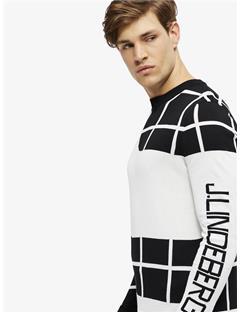 Rocks Long-Sleeve Pima Cotton Sweater Black