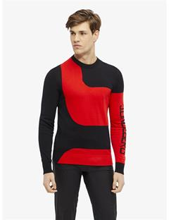 Mens Rocks Long-Sleeve Pima Cotton Sweater Racing Red