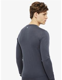 Newman V-neck Tour Merino Sweater Dk Grey