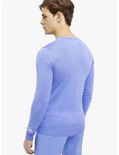 Newman V-neck Tour Merino Sweater Silent Blue