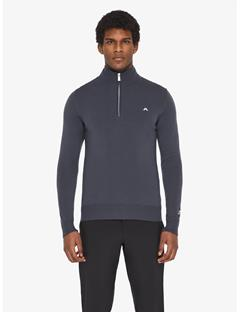Kian Tour Merino Half Zip Sweater Dk Grey