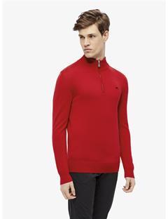Kian Tour Merino Half Zip Sweater Racing Red