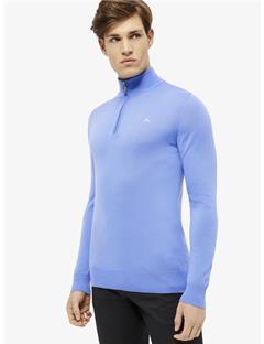 Kian Tour Merino Half Zip Sweater Silent Blue