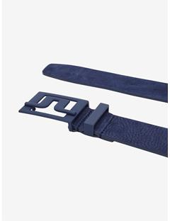 Slater 40 Brushed Leather Belt JL Navy