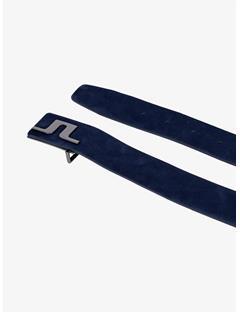 Carter Brushed Leather Belt JL Navy