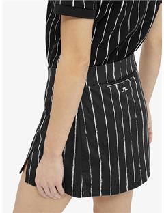 Womens Amelie TX Jersey Mini Skirt Pinstripe