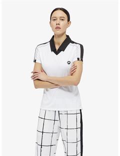Womens Sana TX Jersey Polo White emb. print