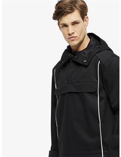 Nils Bonded Weave Jacket Black