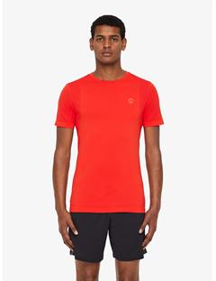 Mens Seamless Atma Lightweight T-shirt Racing Red