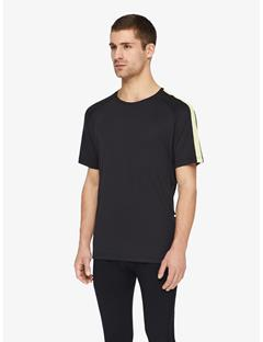 Mens Riley Double Mesh T-shirt Black