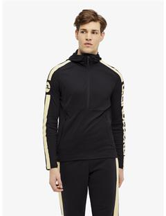 Colin Double Mesh Hoodie Black