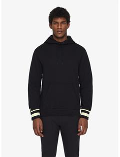 Cian French Terry Pullover Hoodie Black
