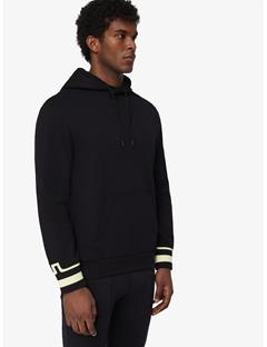 Mens Cian French Terry Pullover Hoodie Black