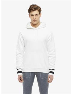 Cian French Terry Pullover Hoodie White