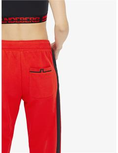Womens Adika French Terry Pants Racing Red